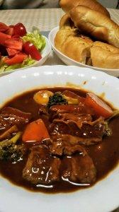 麻里家の夕食…豪華( ゚Д゚)おいしそう!