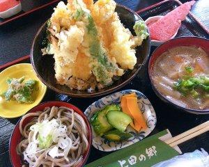 上田の郷の本気丼です。これでも小盛ですヨ
