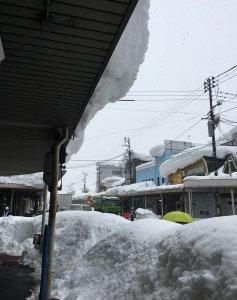 除雪しています